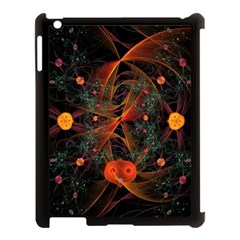 Fractal Wallpaper With Dancing Planets On Black Background Apple Ipad 3/4 Case (black)