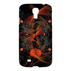 Fractal Wallpaper With Dancing Planets On Black Background Samsung Galaxy S4 I9500/i9505 Hardshell Case