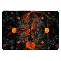 Fractal Wallpaper With Dancing Planets On Black Background Samsung Galaxy Tab 8 9  P7300 Flip Case