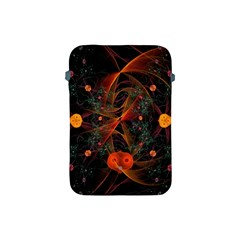 Fractal Wallpaper With Dancing Planets On Black Background Apple iPad Mini Protective Soft Cases