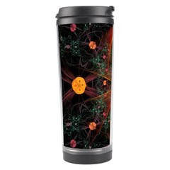 Fractal Wallpaper With Dancing Planets On Black Background Travel Tumbler