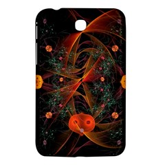 Fractal Wallpaper With Dancing Planets On Black Background Samsung Galaxy Tab 3 (7 ) P3200 Hardshell Case