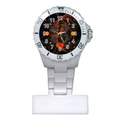 Fractal Wallpaper With Dancing Planets On Black Background Plastic Nurses Watch