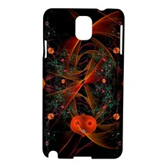Fractal Wallpaper With Dancing Planets On Black Background Samsung Galaxy Note 3 N9005 Hardshell Case