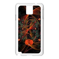Fractal Wallpaper With Dancing Planets On Black Background Samsung Galaxy Note 3 N9005 Case (white)