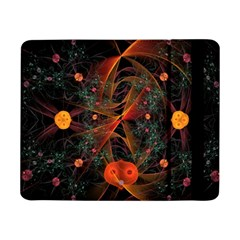 Fractal Wallpaper With Dancing Planets On Black Background Samsung Galaxy Tab Pro 8.4  Flip Case