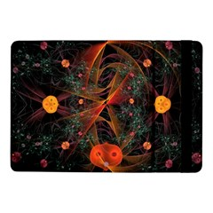 Fractal Wallpaper With Dancing Planets On Black Background Samsung Galaxy Tab Pro 10.1  Flip Case