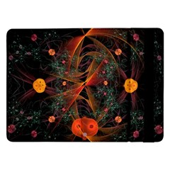 Fractal Wallpaper With Dancing Planets On Black Background Samsung Galaxy Tab Pro 12 2  Flip Case
