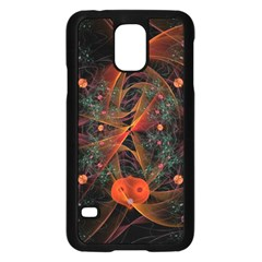 Fractal Wallpaper With Dancing Planets On Black Background Samsung Galaxy S5 Case (Black)
