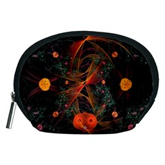 Fractal Wallpaper With Dancing Planets On Black Background Accessory Pouches (medium)