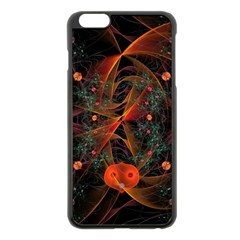 Fractal Wallpaper With Dancing Planets On Black Background Apple Iphone 6 Plus/6s Plus Black Enamel Case