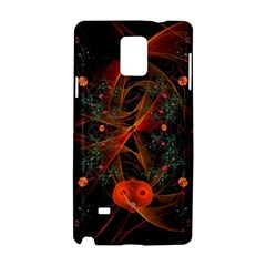 Fractal Wallpaper With Dancing Planets On Black Background Samsung Galaxy Note 4 Hardshell Case
