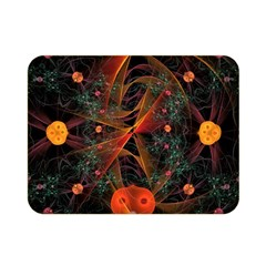 Fractal Wallpaper With Dancing Planets On Black Background Double Sided Flano Blanket (Mini)