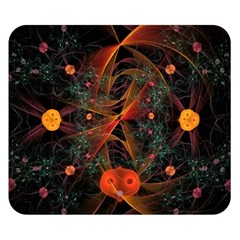 Fractal Wallpaper With Dancing Planets On Black Background Double Sided Flano Blanket (small)
