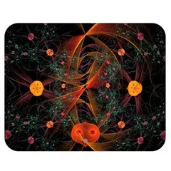Fractal Wallpaper With Dancing Planets On Black Background Double Sided Flano Blanket (medium)