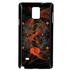 Fractal Wallpaper With Dancing Planets On Black Background Samsung Galaxy Note 4 Case (Black)