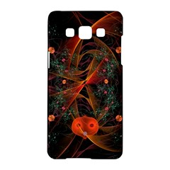 Fractal Wallpaper With Dancing Planets On Black Background Samsung Galaxy A5 Hardshell Case