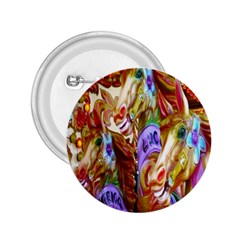 3 Carousel Ride Horses 2.25  Buttons