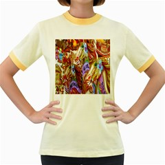 3 Carousel Ride Horses Women s Fitted Ringer T Shirts
