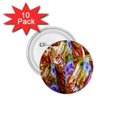 3 Carousel Ride Horses 1.75  Buttons (10 pack)