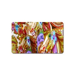 3 Carousel Ride Horses Magnet (Name Card)