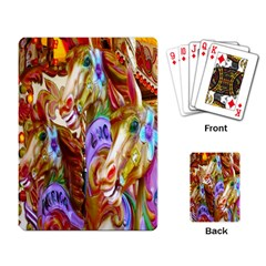 3 Carousel Ride Horses Playing Card