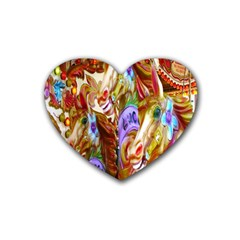 3 Carousel Ride Horses Heart Coaster (4 Pack)