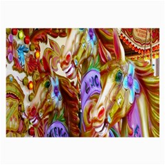 3 Carousel Ride Horses Large Glasses Cloth (2 Side)