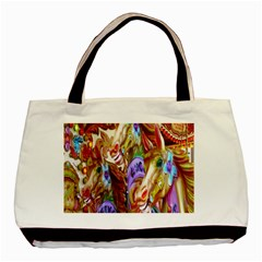 3 Carousel Ride Horses Basic Tote Bag (two Sides)