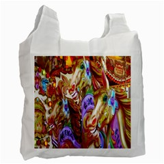 3 Carousel Ride Horses Recycle Bag (Two Side)