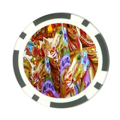 3 Carousel Ride Horses Poker Chip Card Guard (10 pack)