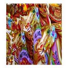 3 Carousel Ride Horses Shower Curtain 66  x 72  (Large)