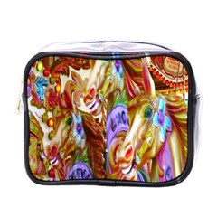 3 Carousel Ride Horses Mini Toiletries Bags