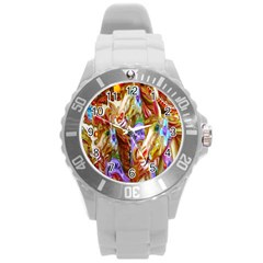 3 Carousel Ride Horses Round Plastic Sport Watch (l)