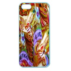 3 Carousel Ride Horses Apple Seamless Iphone 5 Case (color)