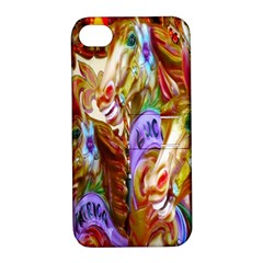 3 Carousel Ride Horses Apple iPhone 4/4S Hardshell Case with Stand