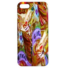 3 Carousel Ride Horses Apple iPhone 5 Hardshell Case with Stand