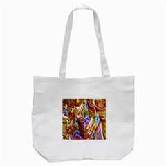 3 Carousel Ride Horses Tote Bag (white)