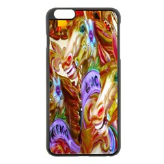 3 Carousel Ride Horses Apple iPhone 6 Plus/6S Plus Black Enamel Case