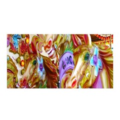 3 Carousel Ride Horses Satin Wrap