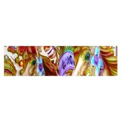 3 Carousel Ride Horses Satin Scarf (Oblong)