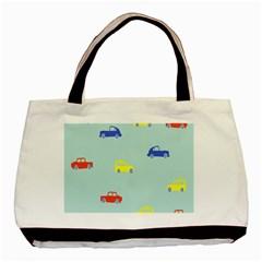 Car Yellow Blue Orange Basic Tote Bag