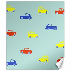 Car Yellow Blue Orange Canvas 20  x 24