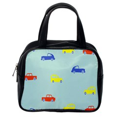Car Yellow Blue Orange Classic Handbags (One Side)