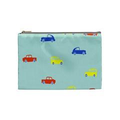 Car Yellow Blue Orange Cosmetic Bag (Medium)