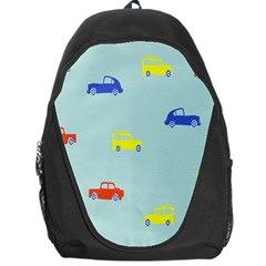 Car Yellow Blue Orange Backpack Bag