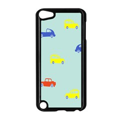 Car Yellow Blue Orange Apple iPod Touch 5 Case (Black)