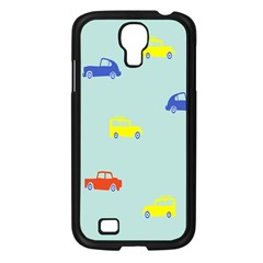 Car Yellow Blue Orange Samsung Galaxy S4 I9500/ I9505 Case (Black)