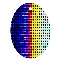 A Creative Colorful Background Ornament (oval)