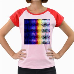 A Creative Colorful Background Women s Cap Sleeve T-Shirt